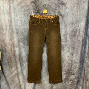 Prana Brown Cotton Corduroy Straight Leg Pants 8